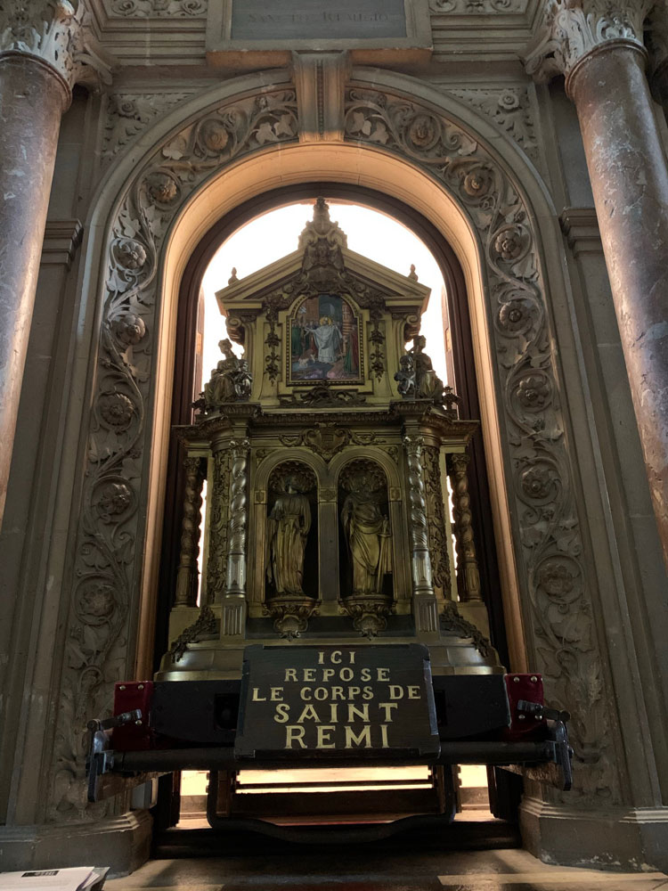 The Reliquary holding the remains of St Remy.