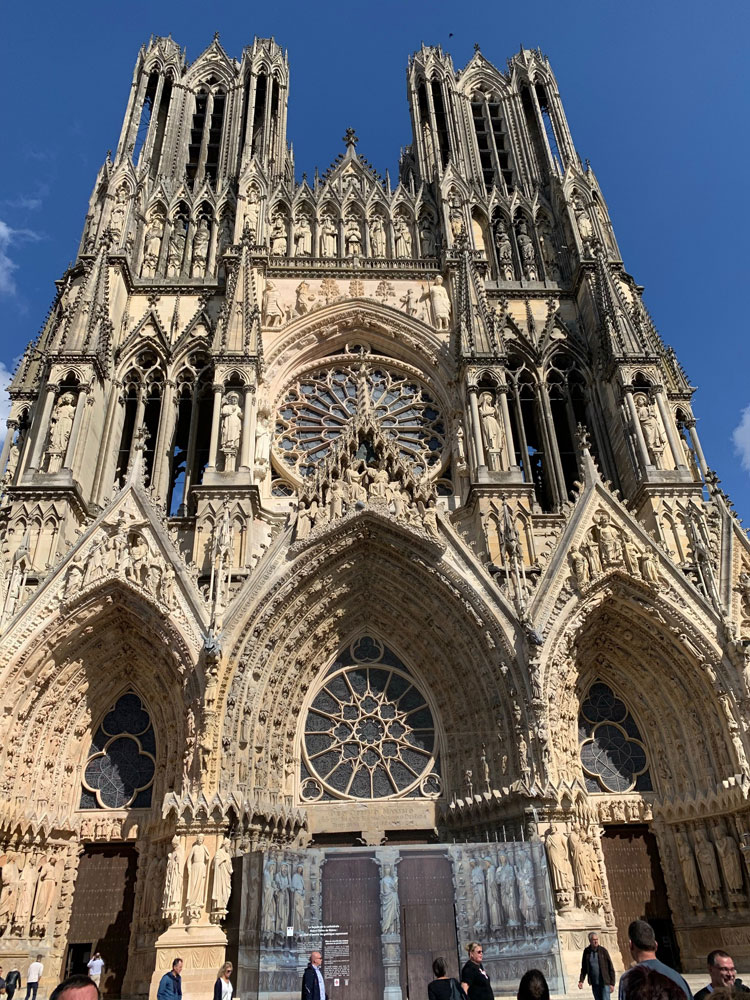 The western façade of Reims Cathedral.